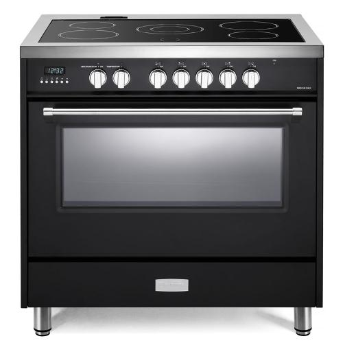 "Matte Black 36"" Designer Electric Glass Top Range - Designer Series"