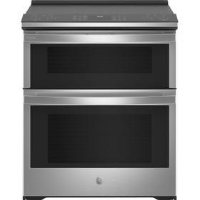 "GE Profile™ 30"" Smart Slide-In Electric Double Oven Convection Fingerprint Resistant Range"