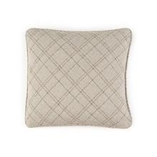 Solid Toss Pillow in Blue Plaid