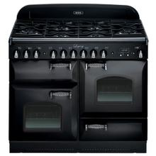"""See Details - Black with cathedral doors AGA Legacy 44"""" Dual-Fuel Range"""