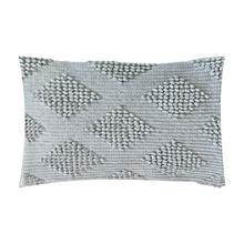 """(LS) Karina Woven Diamond Lumbar Pillow (21"""" X 13"""") - Oatmeal"""