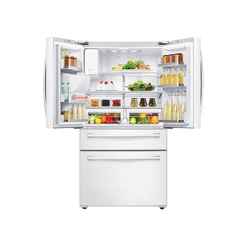 Samsung - 28 cu. ft. 4-Door French Door Refrigerator in White