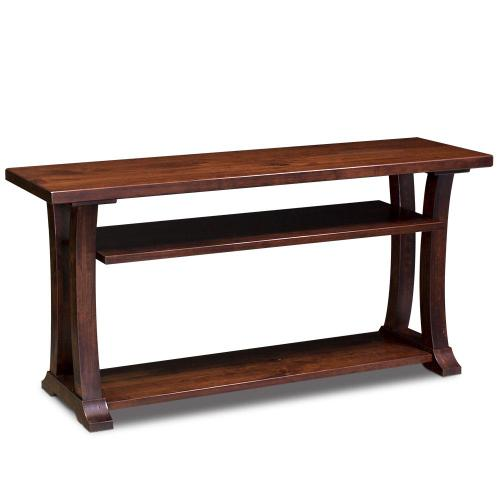 """Simply Amish - Alexandria Open TV Stand, 60"""""""