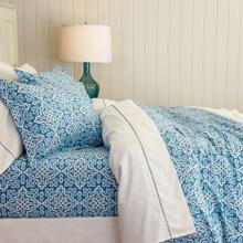 Lennox Duvet Cover & Shams, BLUE, KING