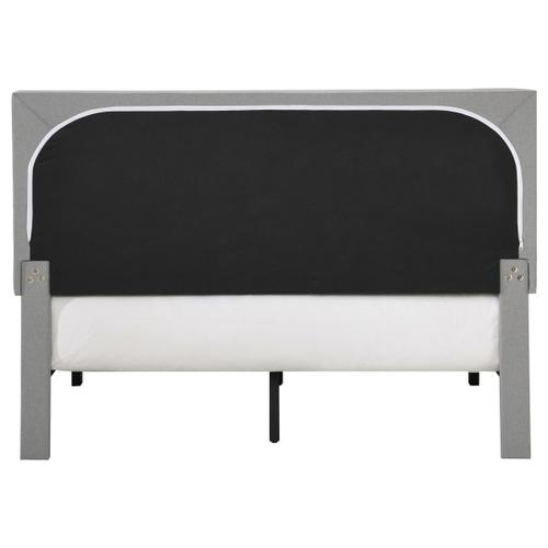 Grid Tufted Full-Sized Platform Bed in Gray