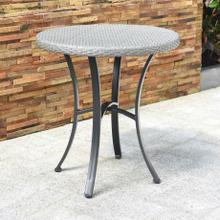 Barcelona Resin Wicker/ Aluminum 28-inch Round Bistro/ Side Table - Grey