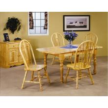 DLU-TDX3472-124S-LO5PC  5 Piece Drop Leaf Extendable Dining Set with Keyhole Chairs