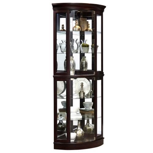 Pulaski Furniture - Curved 5 Shelf Corner Curio Cabinet in Sable Brown