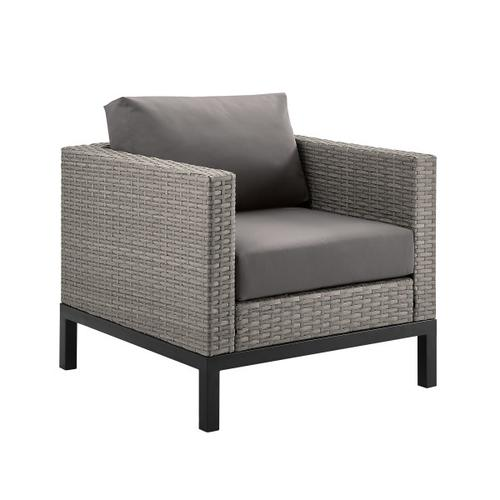 Metal Leg Wicker Finish Outdoor Set in Driftwood Gray (Component 1 of 3)