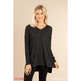 Heathered Striped Top - XS (2 pc. ppk.)