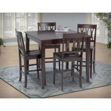 See Details - Counter Table + 4 ESPRESSO - Counter Dining Table