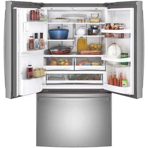 GE Appliances - GE® ENERGY STAR® 27.7 Cu. Ft. Fingerprint Resistant French-Door Refrigerator