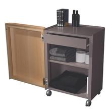 See Details - Aeri Gray Freestanding Storage Unit with a Drawer, Two Shelves and Casters