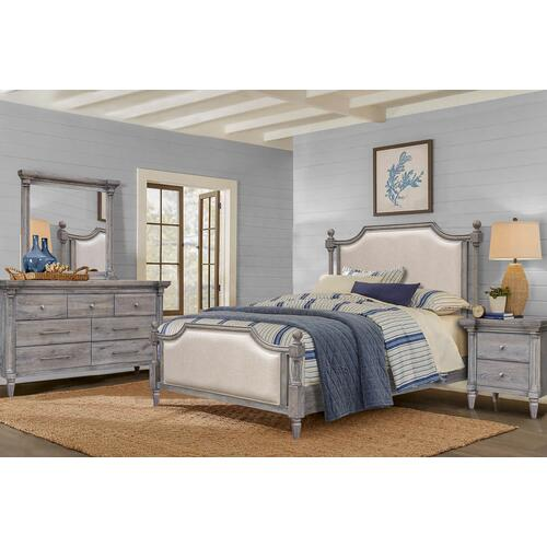 Bedroom Framed Beveled Mirror - Fawn Collection