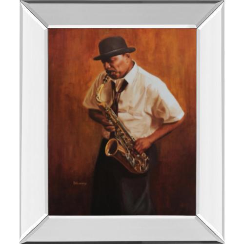 """Sax Player Mirror Framed Print Wall Art"