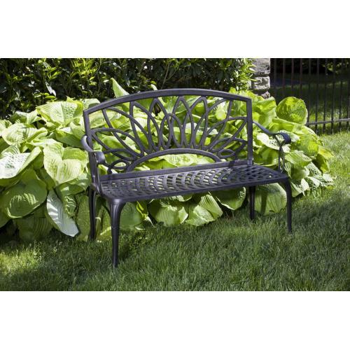 Daffodil Cast Aluminum Garden Bench