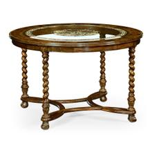 "48"" Oyster & eglomise breakfast or centre table"