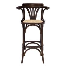 See Details - Adna Bar Stool In Walnut With Cane Seat In Natural