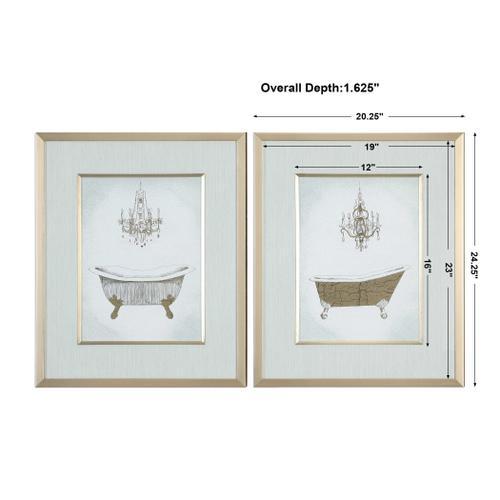Uttermost - Gilded Bath Framed Prints, S/2