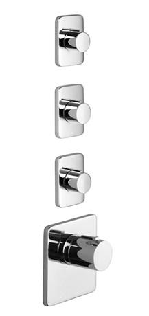 xTOOL thermostat with three volume controls - chrome Product Image