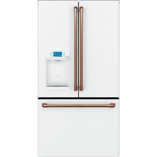 Cafe - Café™ ENERGY STAR® 22.1 Cu. Ft. Smart Counter-Depth French-Door Refrigerator with Hot Water Dispenser