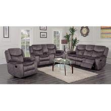 Logan Gray Sofa, Console Loveseat & Recliner, M6629