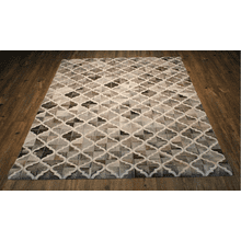 Durable Handmade Natural Leather Patchwork Cowhide PCH157 Area Rug by Rug Factory Plus - 5' x 7' / Gray White