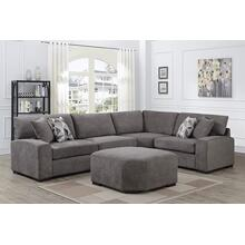 Clayton Graphite Sectional, U5350