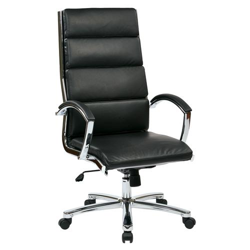 High Back Executive Black Faux Leather Chair
