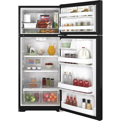 GE Appliances - GE® ENERGY STAR® 17.5 Cu. Ft. Top-Freezer Refrigerator