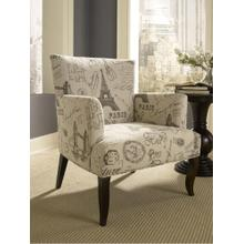 French Calligraphy Wing Chair
