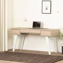 Computer Desk with Power Bar - Soft Elm