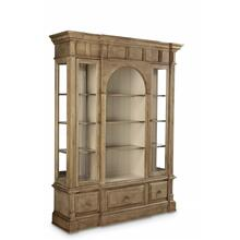 Collection One Jefferson Display Cabinet - Natural Finish
