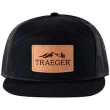 Traeger 7-Panel Leather Patch Hat