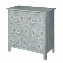 Bayside Blue Shell 6 Drawer Chest