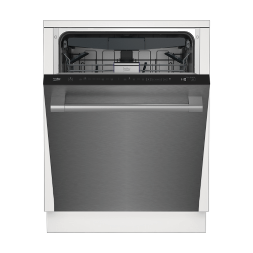 Beko - Tall Tub Stainless Dishwasher, 16 place settings, 45 dBa, Top Control