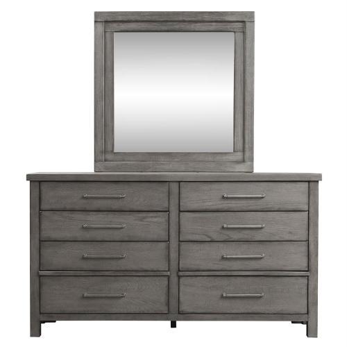 King California Platform Bed, Dresser & Mirror, Chest, N/S