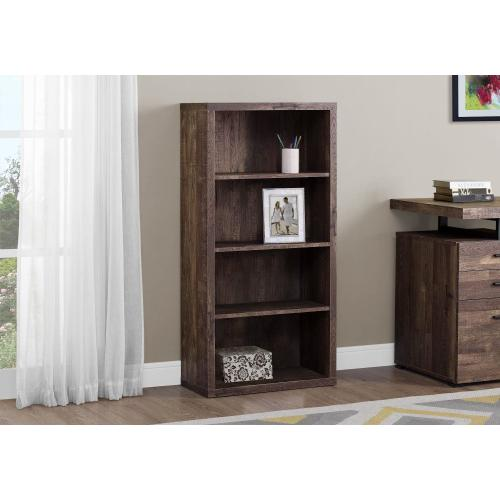 "BOOKCASE - 48""H / BROWN RECLAIMED WOOD-LOOK/ ADJ. SHELVES"