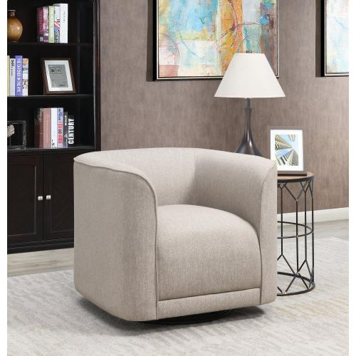 Whirlaway Swivel Accent Chair, Sand