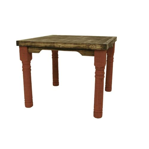 """4'X4' Red Table W/36"""" Legs"""