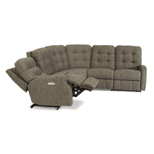- Devon Power Reclining Sectional with Power Headrests