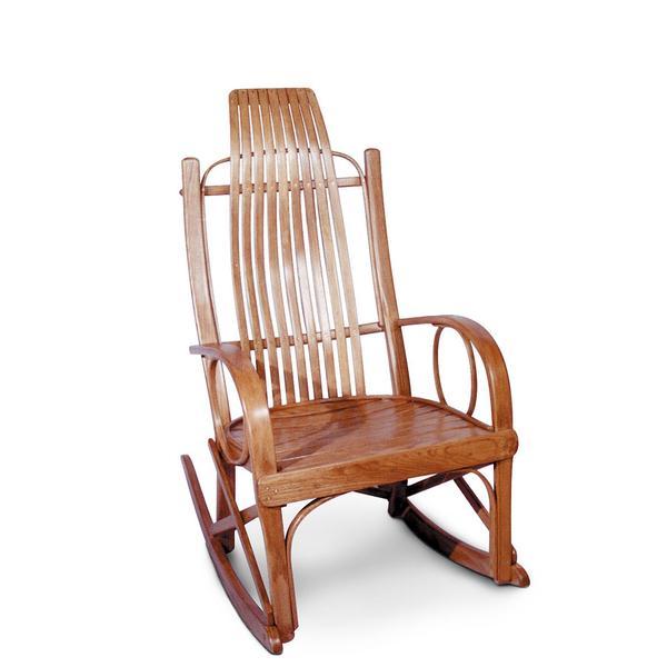 Bentwood Rocker, Wood Seat, Cherry