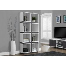 "BOOKCASE - 71""H / WHITE / GREY"