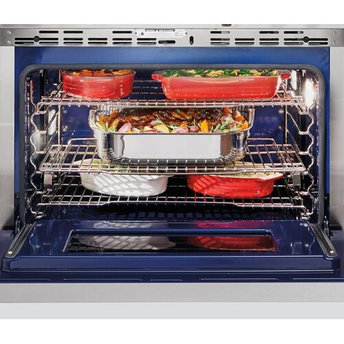 "36"" Dual Fuel Range - 4 Burners and Infrared Griddle"