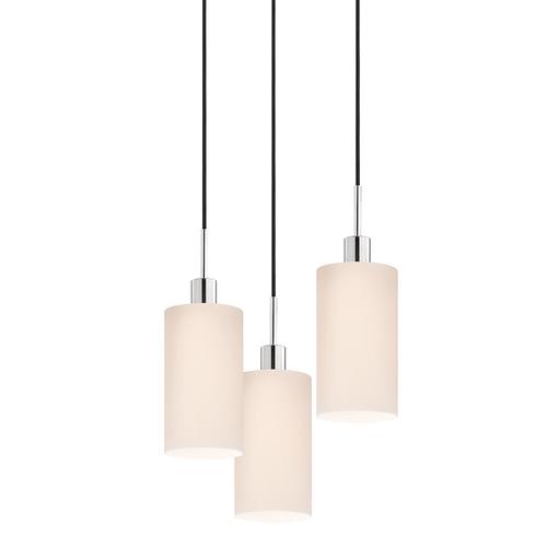 Glass Pendants Cylinder 3-Light Pendant