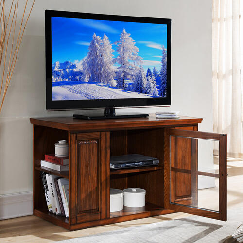 """Gallery - 42"""" Burnished Oak TV Stand #88159"""