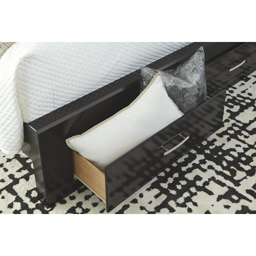 Starberry King Panel Bed With 2 Storage Drawers