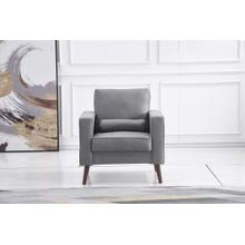 See Details - 8113 LIGHT GRAY Linen Stationary Chair