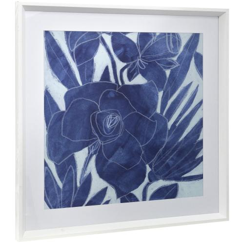 Style Craft - ROYAL BLOOM II  25in w X 25in ht  Framed Print Under Glass with Matte