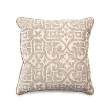 Toss Pillow with a Work Neutral Scroll Pattern